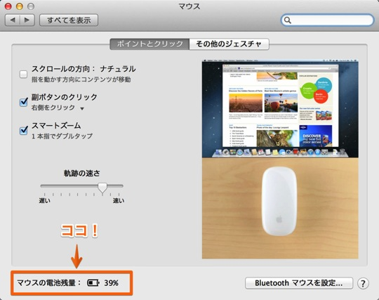 Battery level magic mouse1