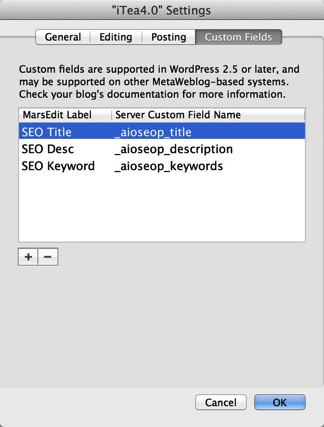 Wordpress update marsedit setting2