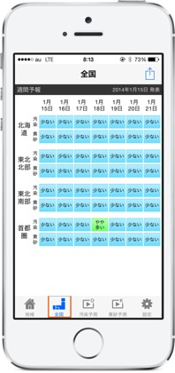 PM2.5と黄砂の予報をスピーディーにチェックできるiPhoneアプリ「大気汚染予報」5