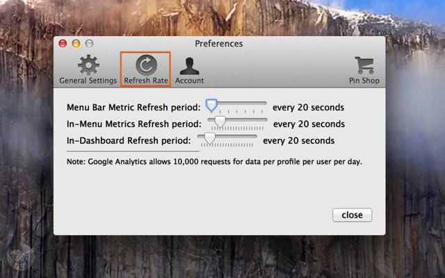 データの更新間隔を設定する