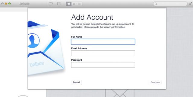 メールアカウントを追加