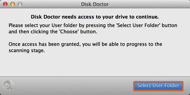 Select User Folder を選択する