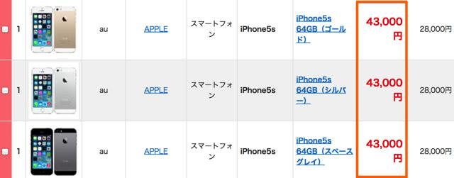 au版iPhoneを買い取ってもらう場合