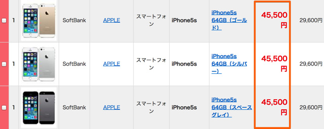Softbank版iPhoneを買い取ってもらう場合