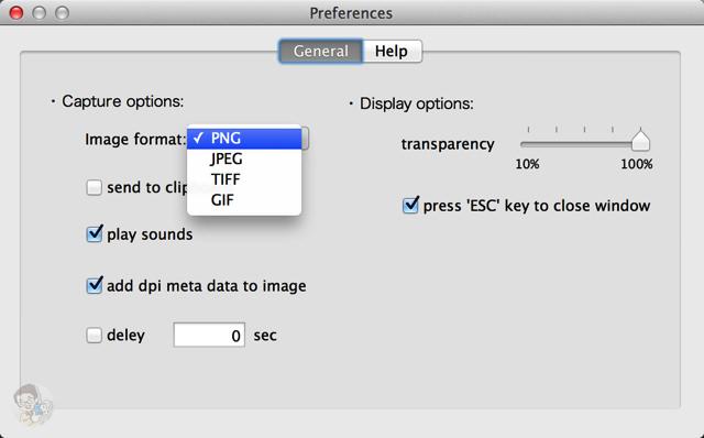 環境設定から保存するファイル形式を変更できる