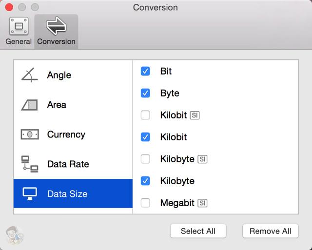 単位変換はユーザー側でカスタマイズすることができる