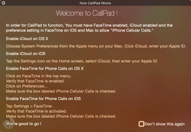 CallPadを使う前に事前の準備を済ませておく