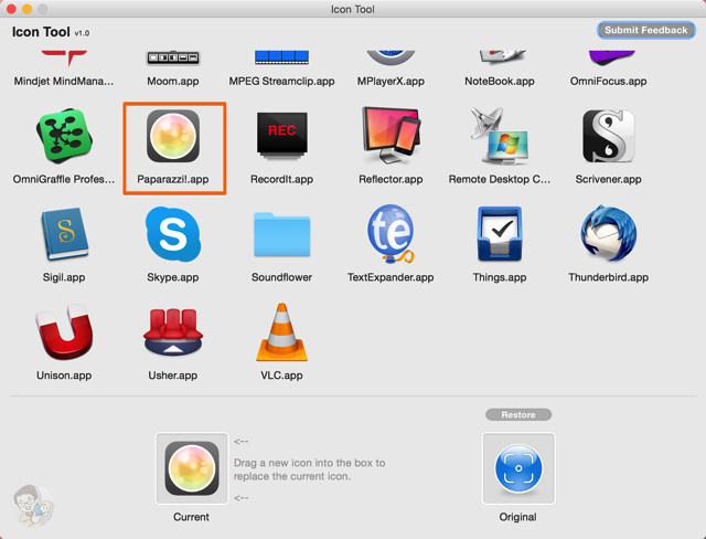 画像をドロップするだけでMacアプリのアイコンを変更できる
