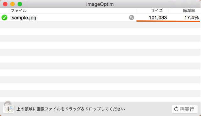 ImageOptimで圧縮後の画像