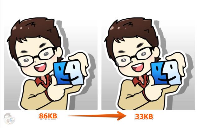 最大70%もファイルサイズを軽量化できる
