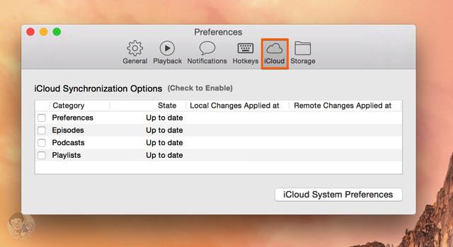 iCloud同期機能も搭載している