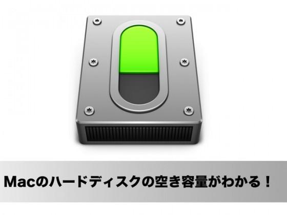 Macのハードディスク(SSD)の空き容量をメニューバーから確認できるアプリ「Drive」