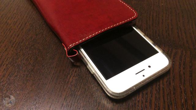 ケースを装着させたiPhone 6 も収納可能