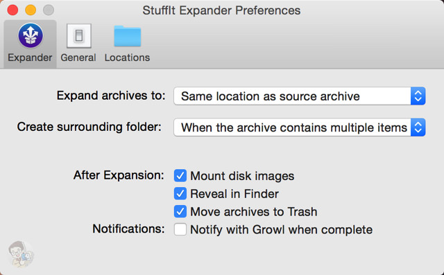 環境設定で圧縮後の元ファイルの処理をカスタマイズできる