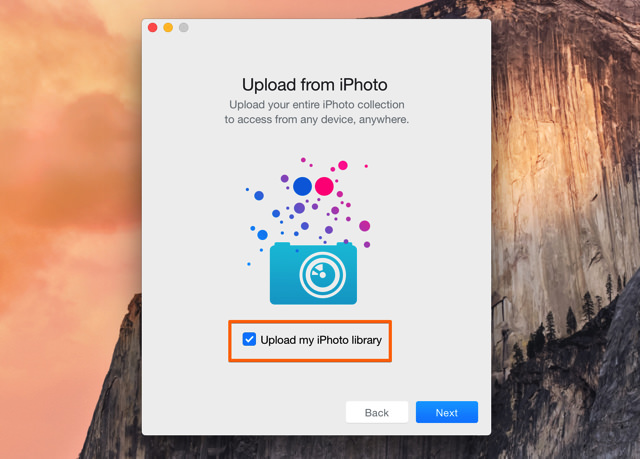 FlickrにiPhotoライブラリもアップロードできる