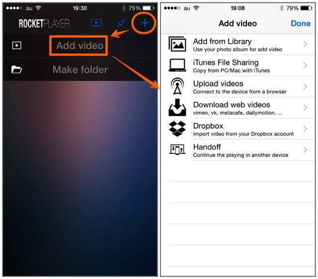 iPhone版「Rocket Video Player」はAppleTVで動画を再生することも可能