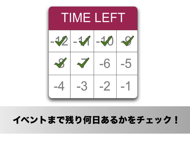 イベントまで残り何日あるかを通知センターのウィジェットでカウントダウンするMacアプリ「Time Left」