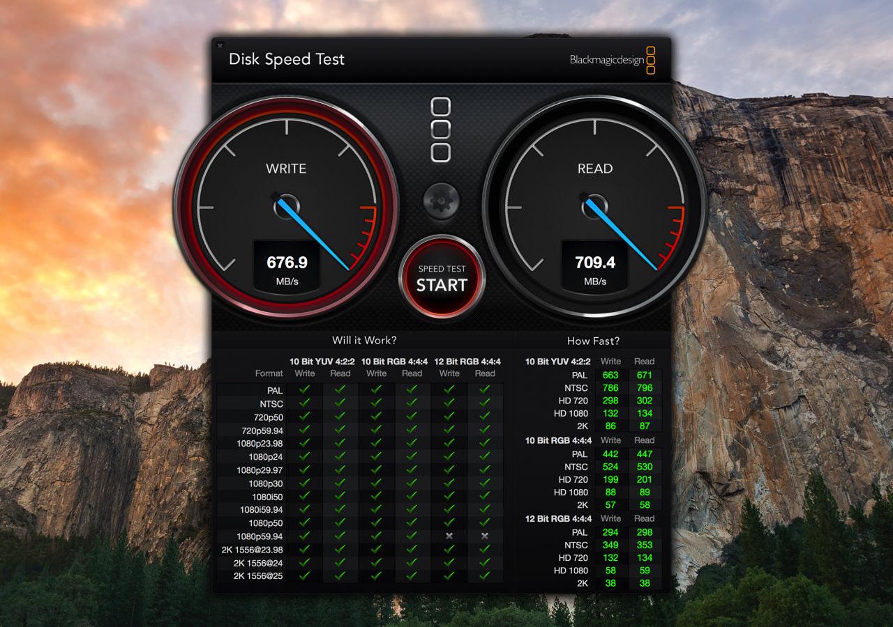 ハードディスク(HDD)やSSDの速度を簡単に計測できる