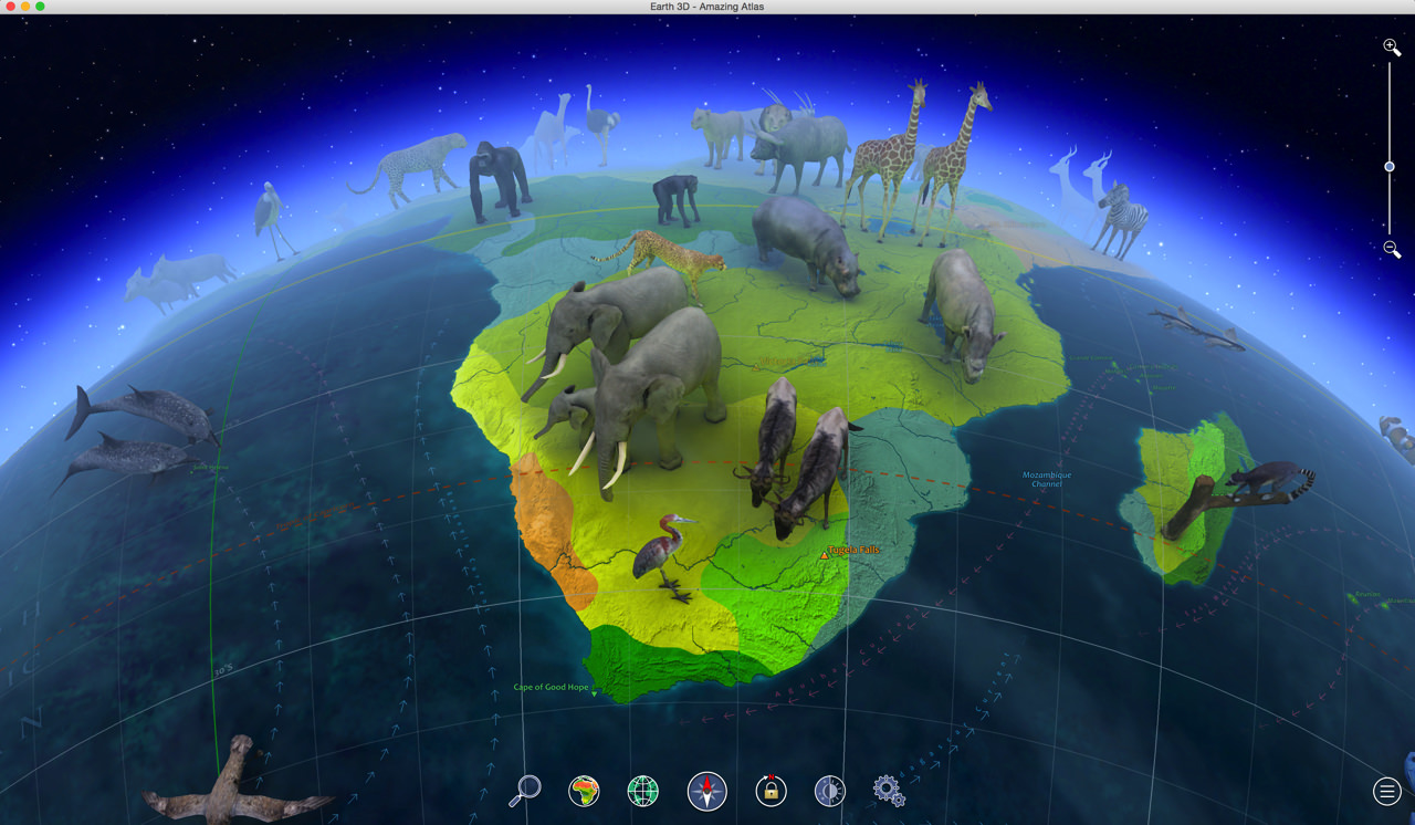 世界各国の動物たちにも出会える