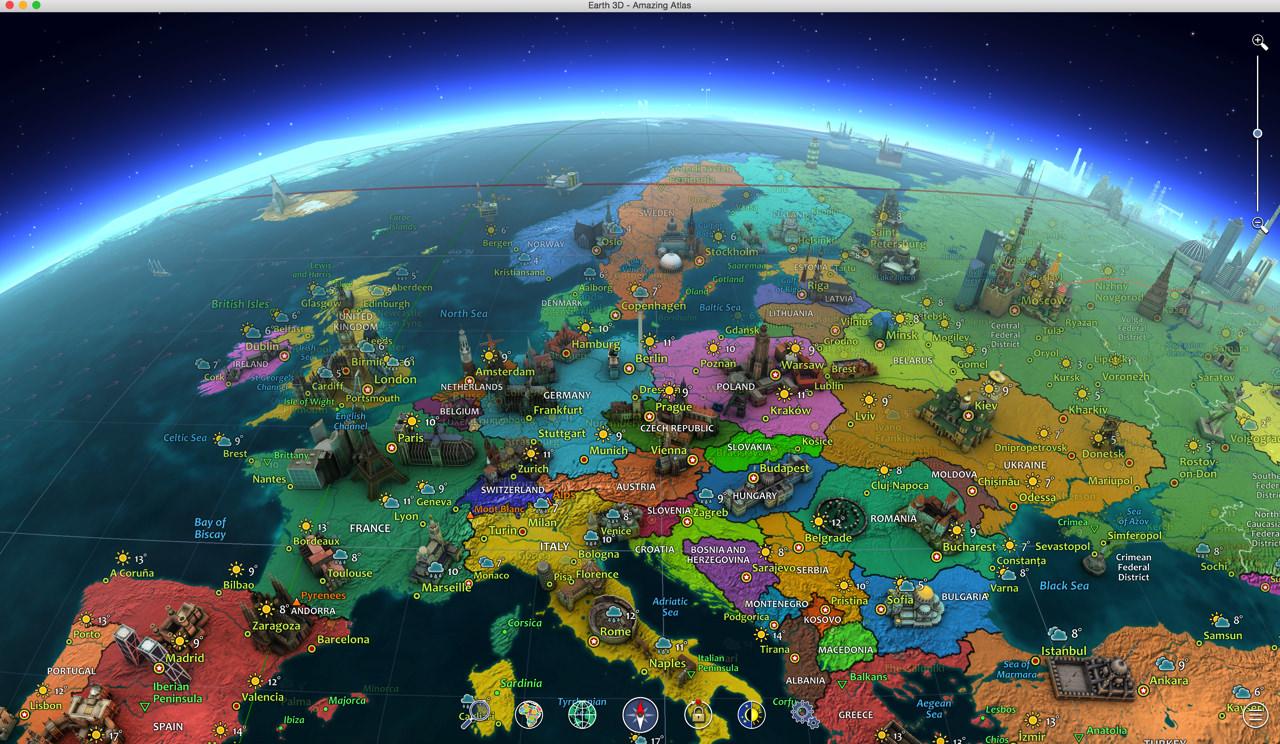 世界各国の名所が楽しめる世界地図アプリ