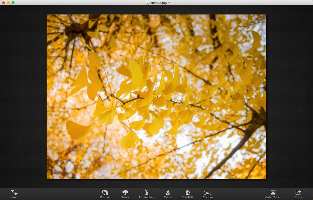 景色の写真を編集する