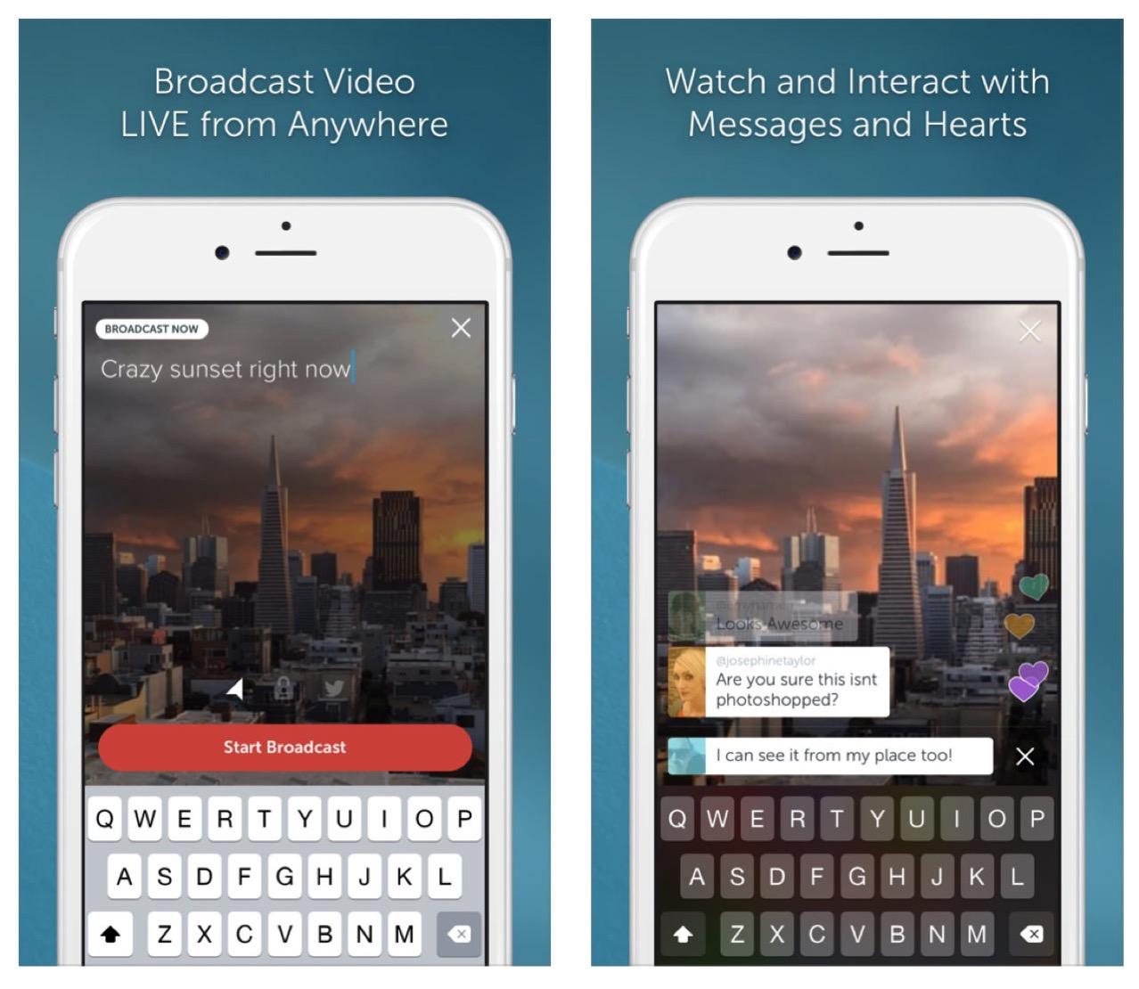 Periscopeはライブ動画や生放送を簡単に楽しめる動画配信サービス