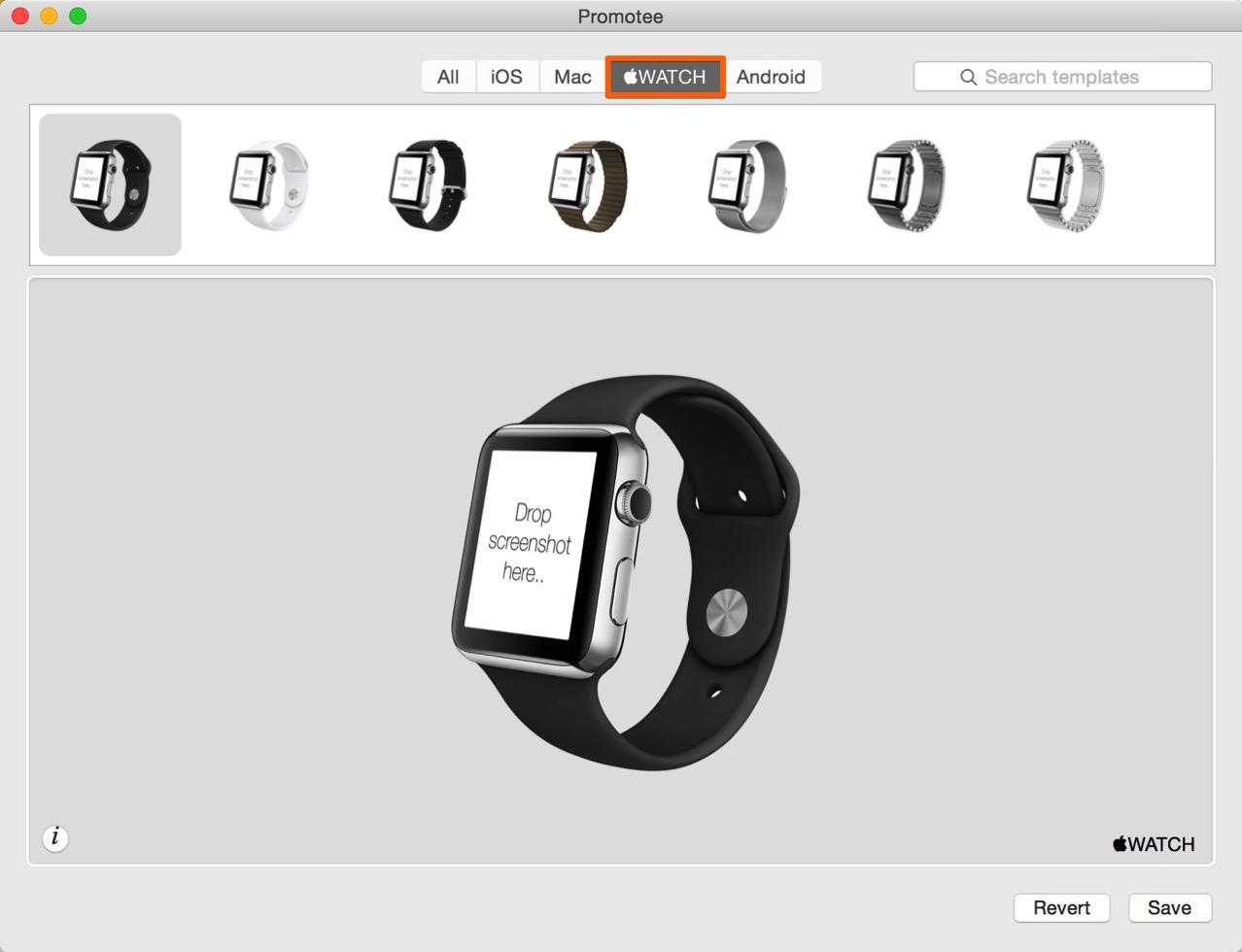 Promotee の「Apple Watch」タブを選択する