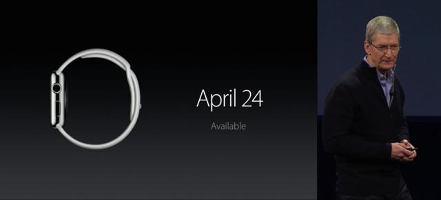 Apple Watch は2015年4月24日発売開始
