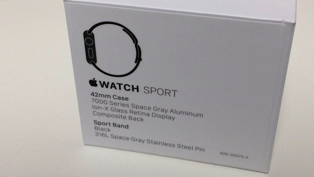 Apple watch 42mm space gray unboxing 20154