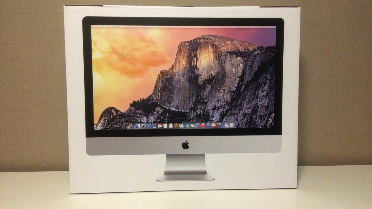 iMac Retina 5K ディスプレイモデル 開封前の外箱パッケージ