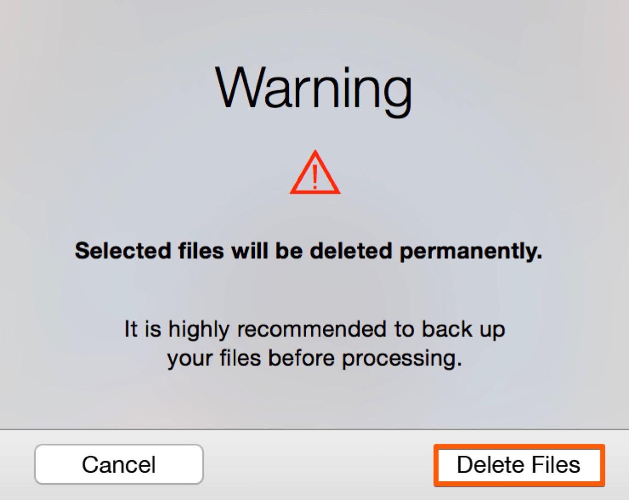 本当にデータを削除して良いかを確認してからデータを削除する