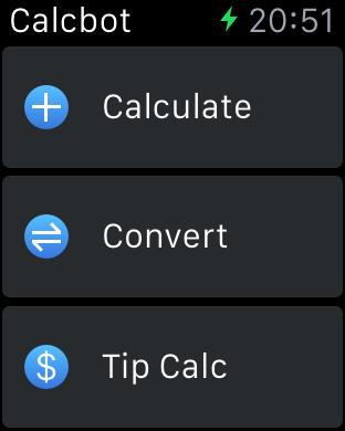「Tip Calc(チップの計算)」を選ぶ