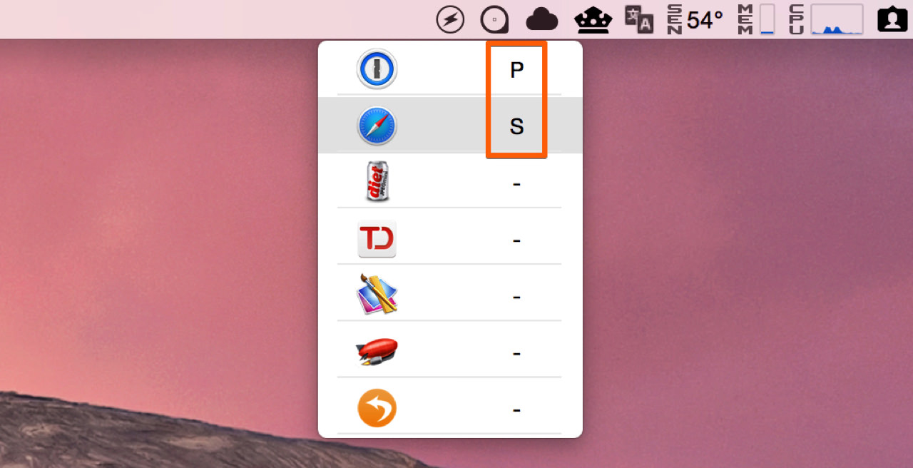 アプリ毎に割り当てるキーもユーザーがカスタマイズすることができる