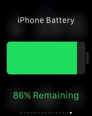 iPhoneのバッテリー残量を「Apple Watch」から確認できる