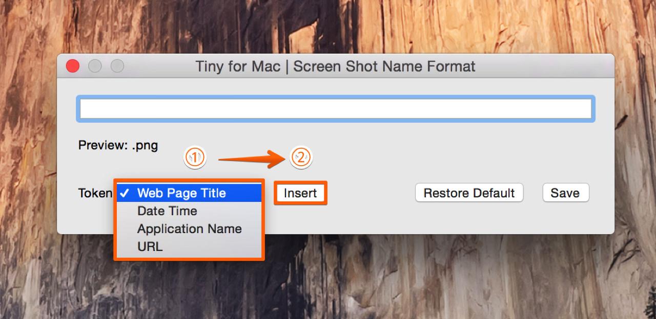 トークンから任意の項目を挿入してファイル名の形式をカスタマイズする方法