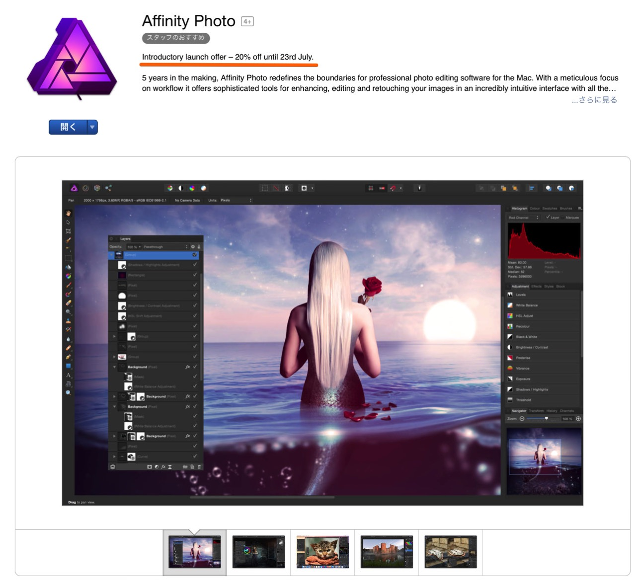 Affinity photo release commemorative price until today2