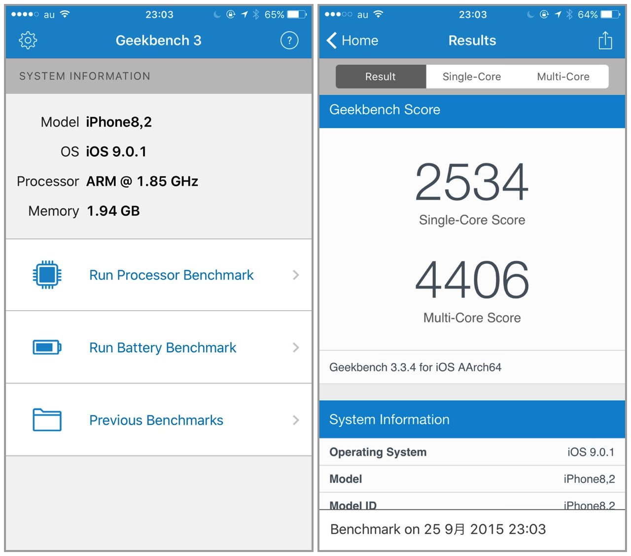 Iphone 6s plus performance and benchmark reports1