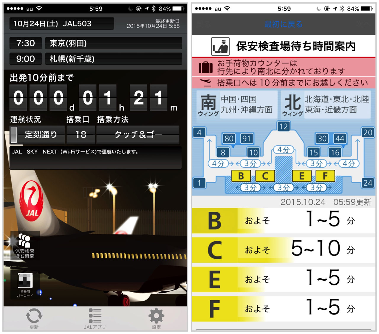 Jal ticket touch and go338
