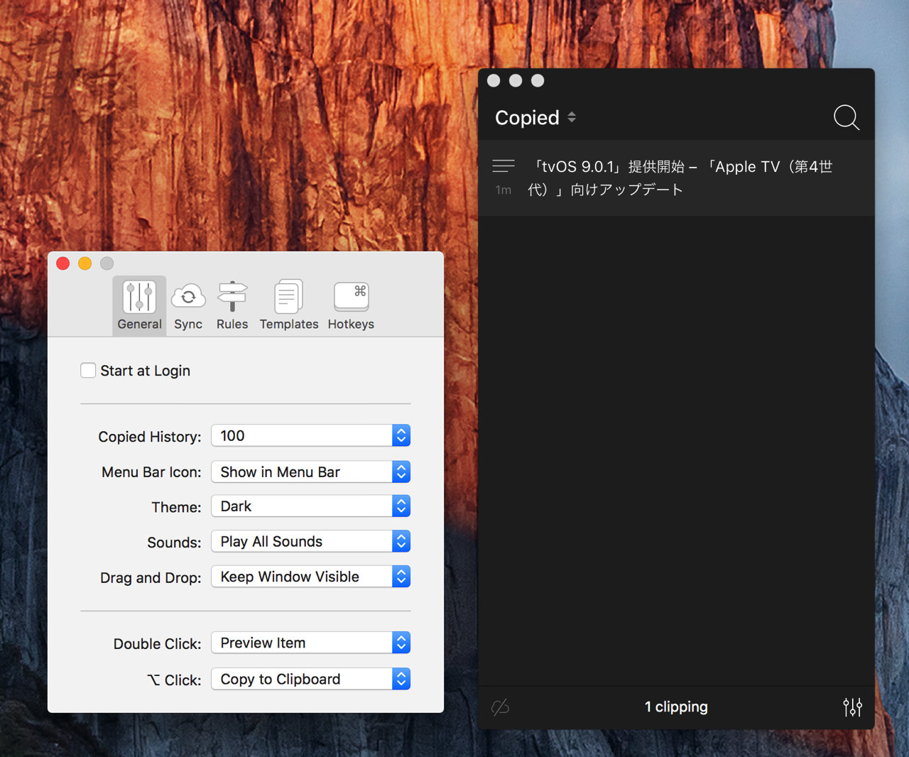 Copied clipboard manager10