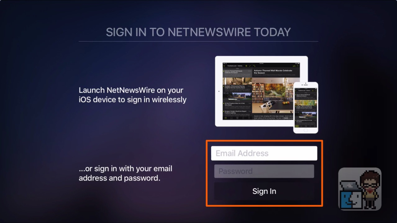 Ios netnewswire corresponding to apple tv1