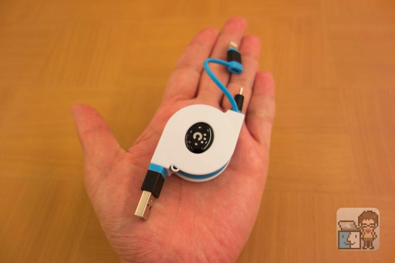 Cheero 2in1 retractable usb cable5