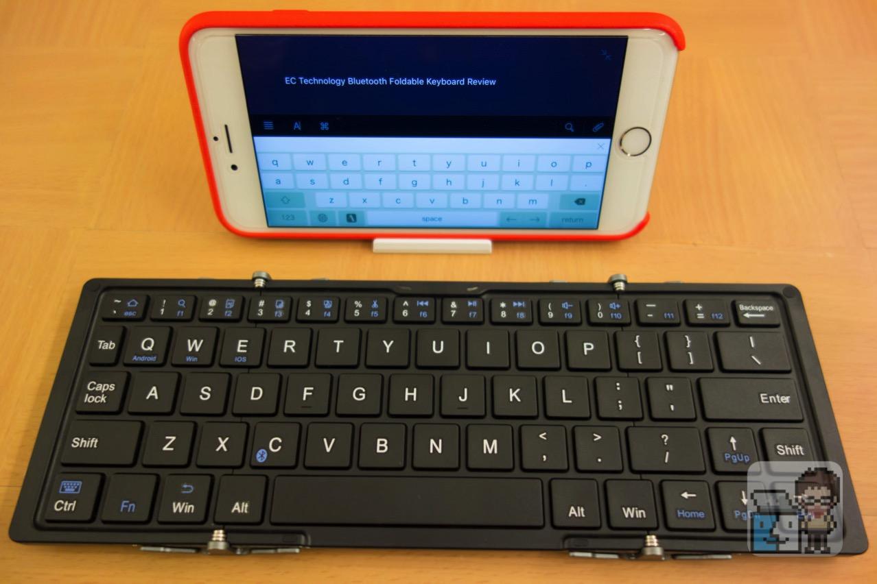 【レビュー】iPhoneで快適に文書作成ができる!EC Technologyの超薄型 Bluetooth 折りたたみ式ワイヤレスキーボード