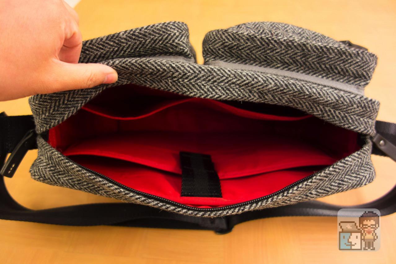 Small shoulder bag harris tweed model for the tablet17