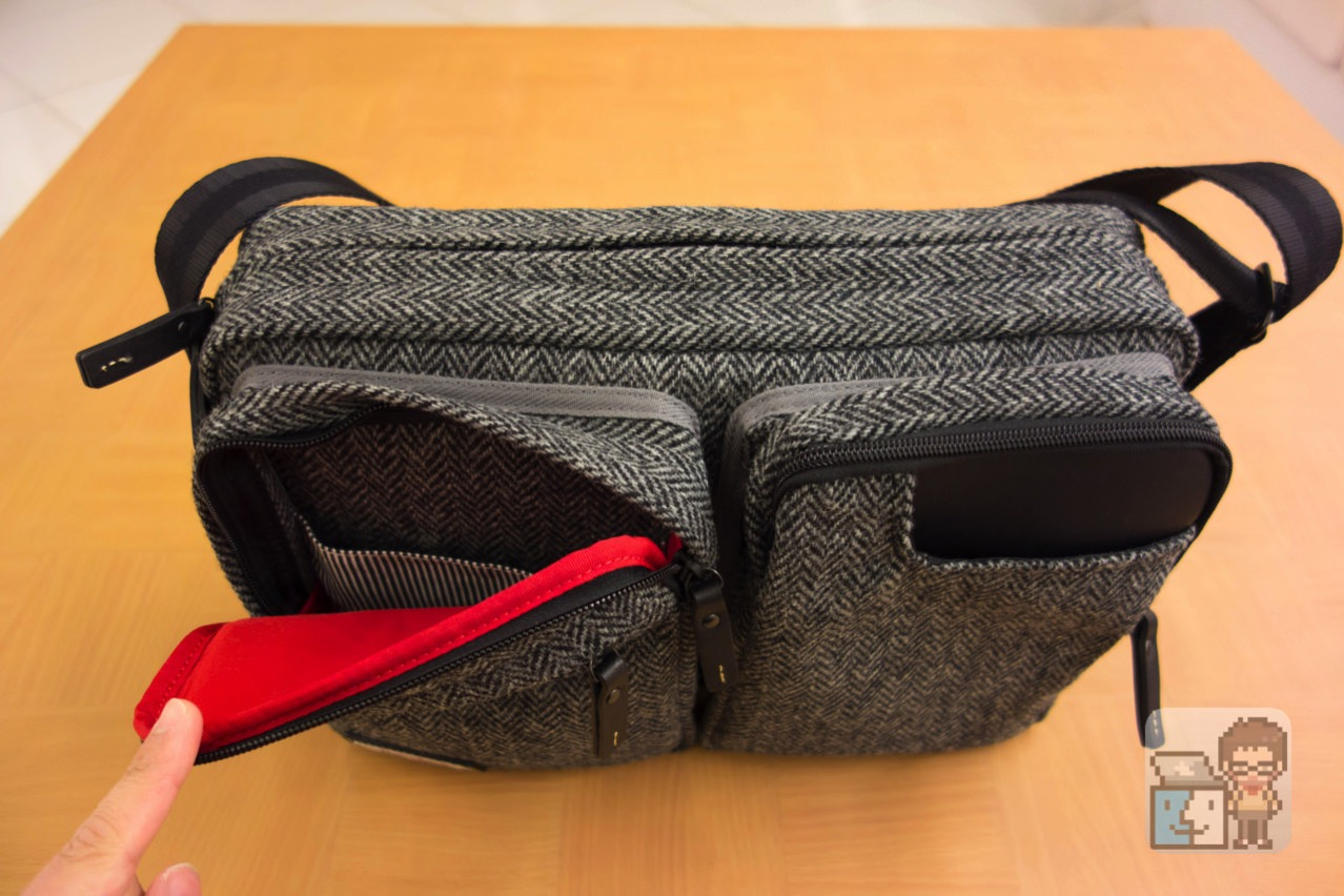 Small shoulder bag harris tweed model for the tablet3