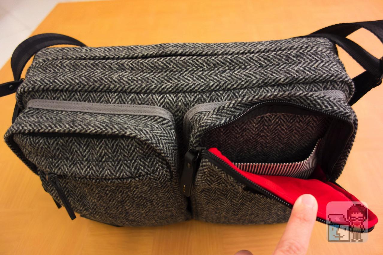 Small shoulder bag harris tweed model for the tablet6