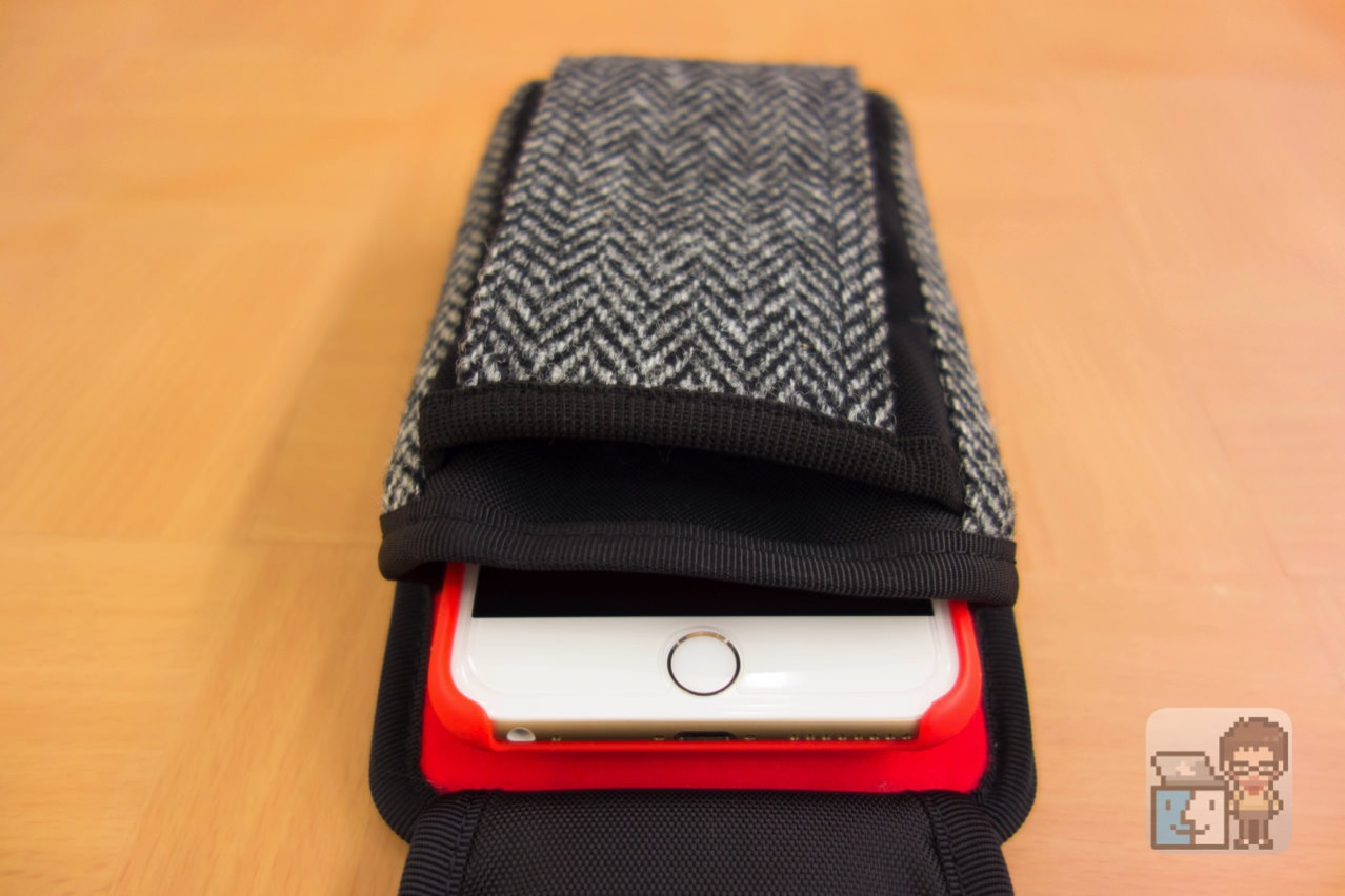 Dual slot case harris tweed edition3
