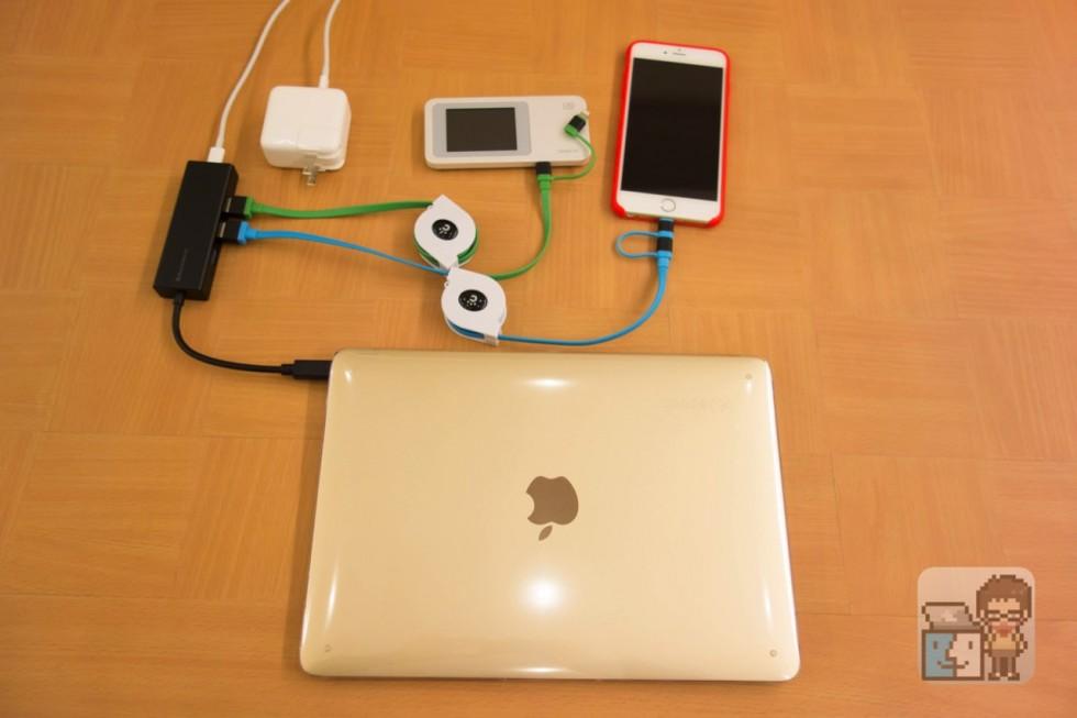 【レビュー】これは便利すぎ!MacBook 12インチのポートをUSB-C 1基+USB 3.0を3基に拡張できるハブがすごい!