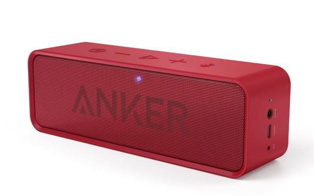 新色レッド登場!iPhone・iPadとBluetooth接続できる高音質のポータブルスピーカー「Anker SoundCore」
