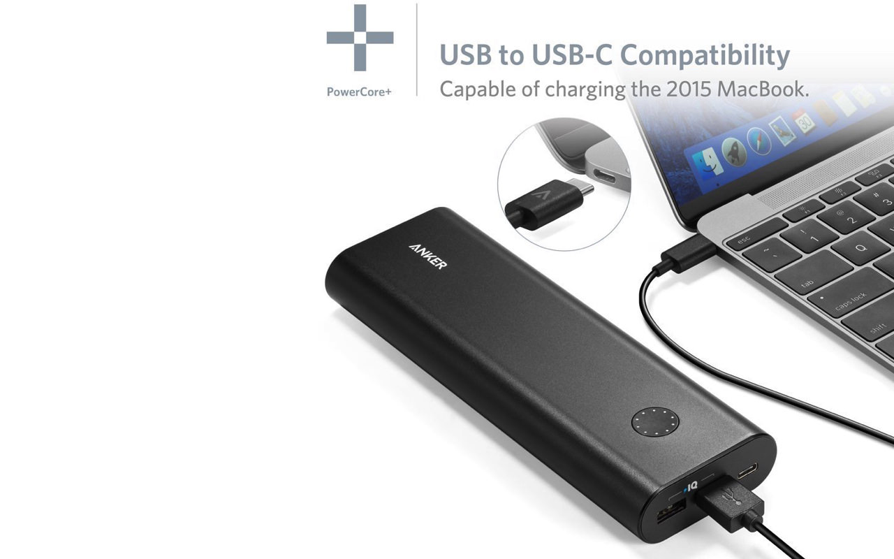 Anker powercore plus 20100 usb c mobile battery time sale march 2016 2