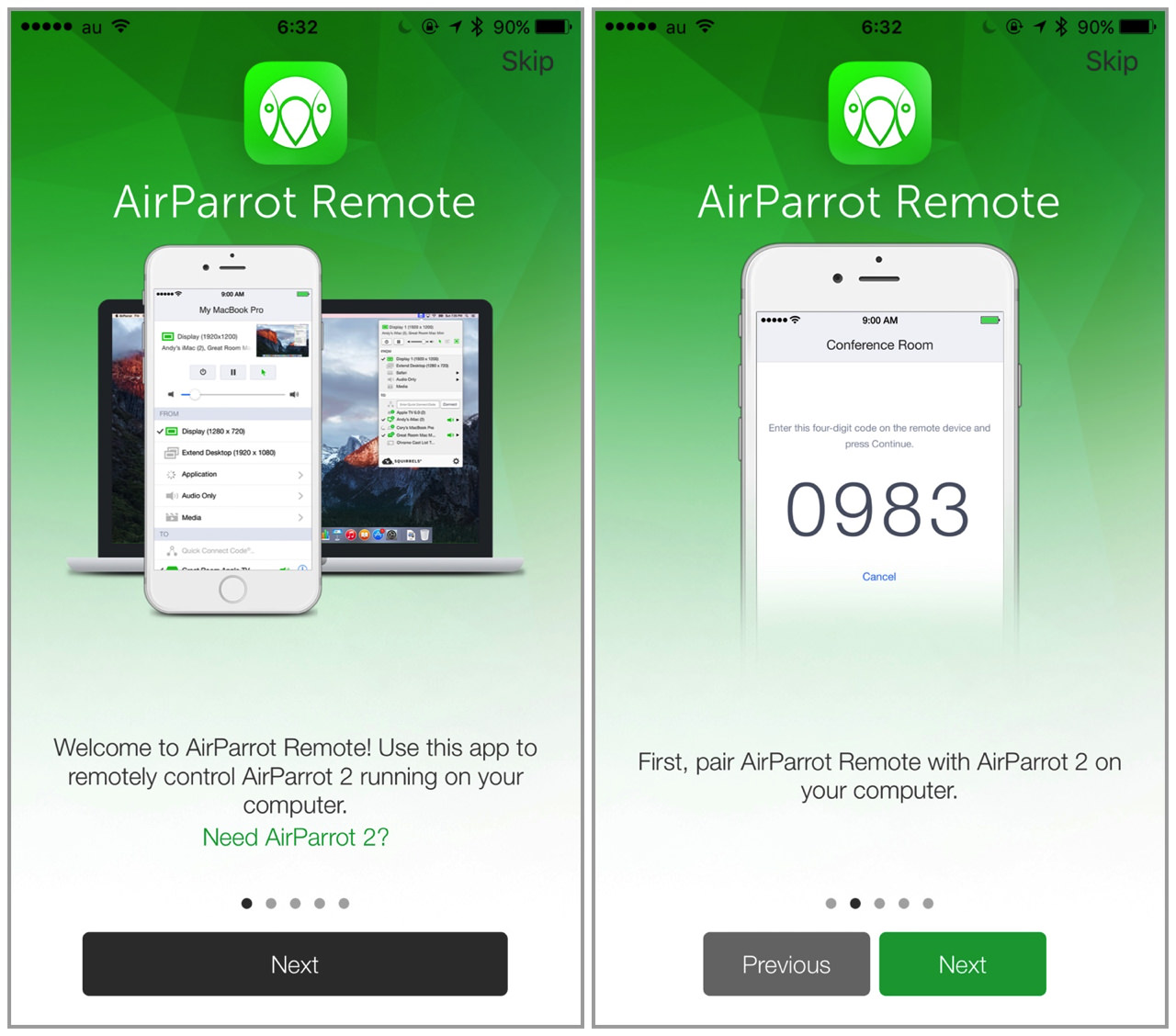Airparrot remote3